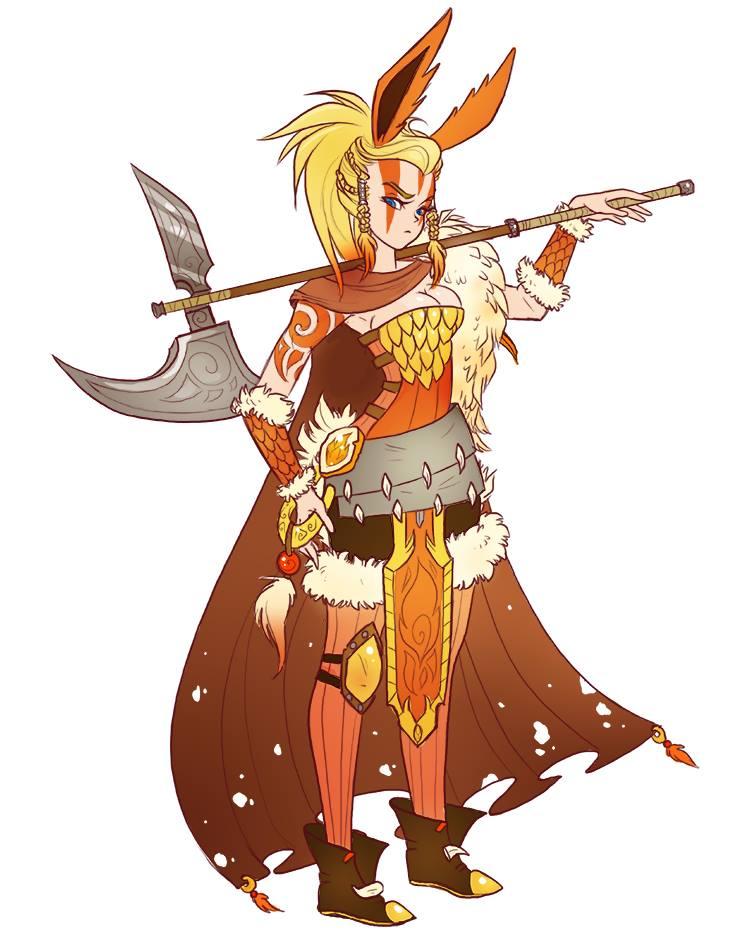 eeveelutions-dnd-pokemon flareon barbarian