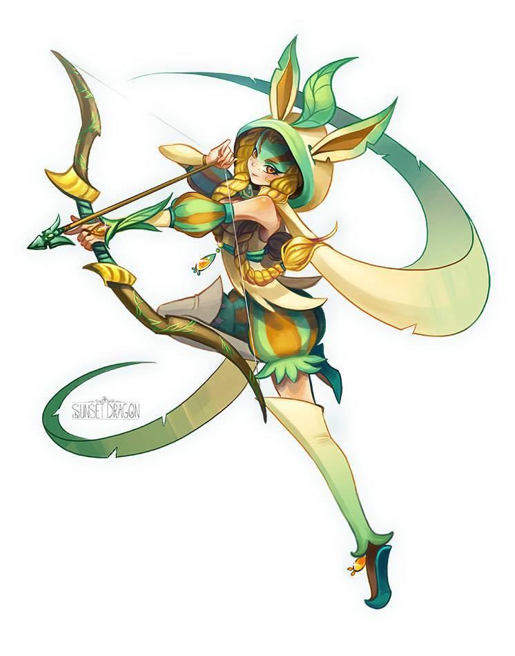 eeveelutions-dnd-pokemon-leafeon-ranger