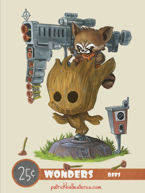 25 cents wonders rocket racoon groot