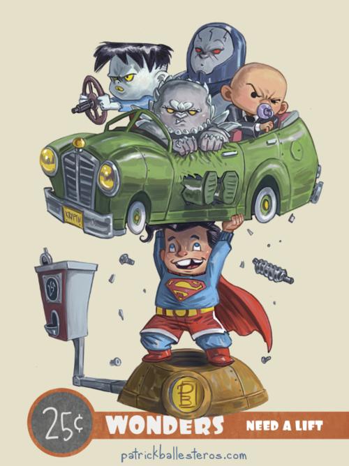 25 cents wonders superman lex darkseid apocalypse bizarro