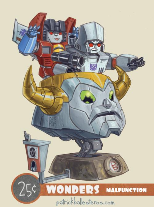 25 cents wonders transformers optimus prime megatron malfunction