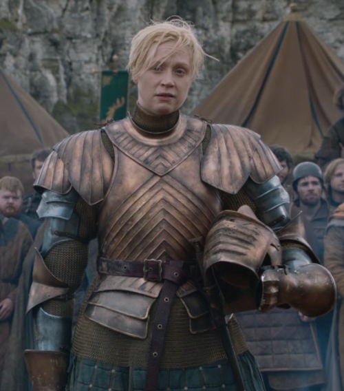 Gwendoline Christie as Brienne of Tarth from Game of Thrones