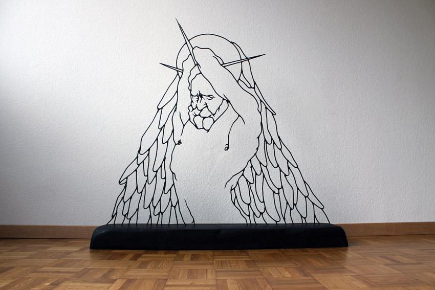 angelashamed Gavin Worth wire sculpture