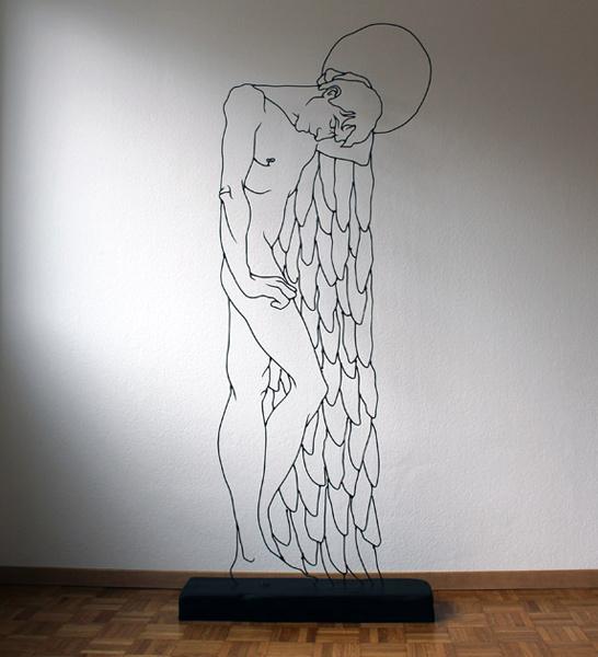 angelsleeping Gavin Worth wire sculpture
