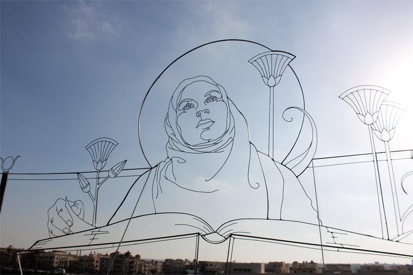 egyptiansibyl3 Gavin Worth wire sculpture