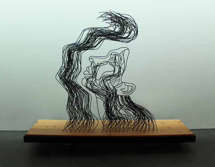 lightfellonherface_front Gavin Worth wire Sculpture