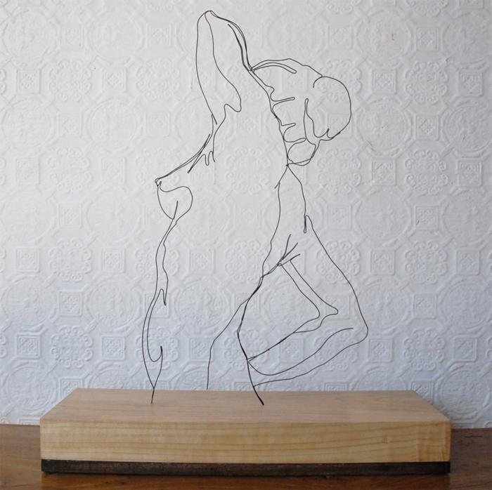 morningpose Gavin Worth wire sculpture