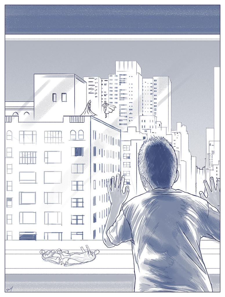 Batman-v-Superman-Heroes-colide-doaly-sketch