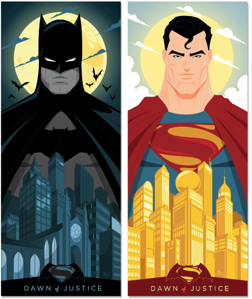Batman v Superman by Mike Mahli