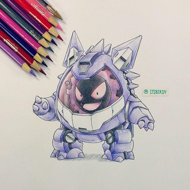 pokemon mech gastly gengar