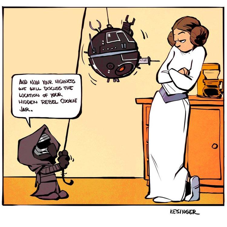 calvin e haroldo star wars the force awakens mashup 4