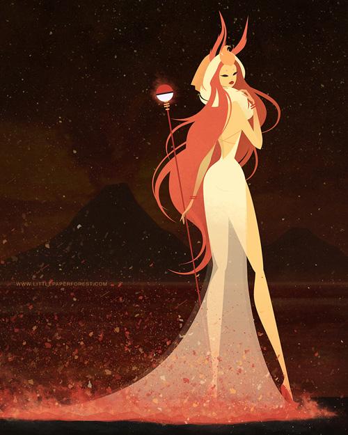 eevee-goddess-evolutions-flareon