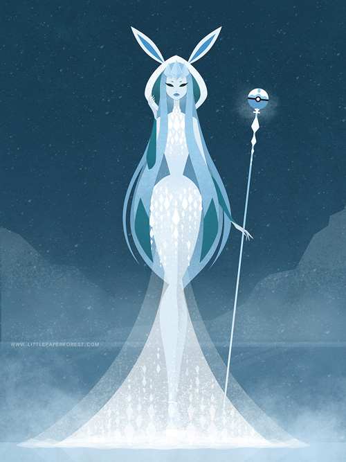 eevee-goddess-evolutions-glaceon
