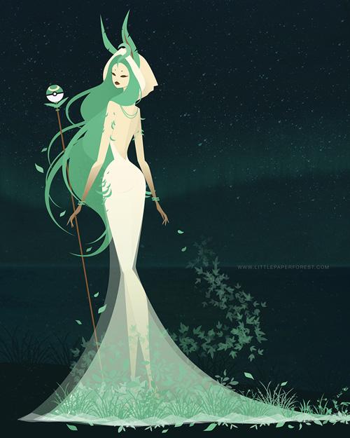eevee-goddess-evolutions-leafeon