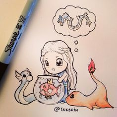 pokemon game of thrones mashup daenerys targarien magikarp dratini charmander