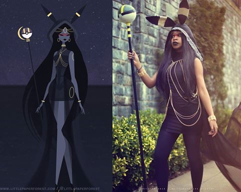 Victory Cosplay as Little Paper Forest umbreon godess art