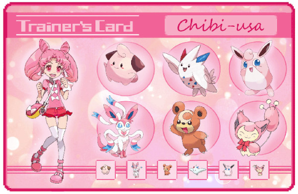 sailor moon pokemon trainer card Chibi-usa