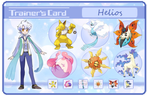 sailor moon pokemon trainer card Helios