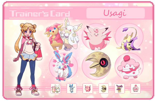 sailor moon pokemon trainer card Usagi