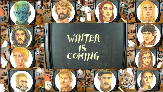 winter is coming game of thrones pankakes