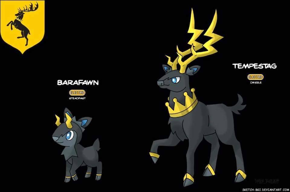 baratheon house pokemon game of thrones