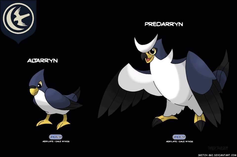 casa arryn falcão pokemon game of thrones