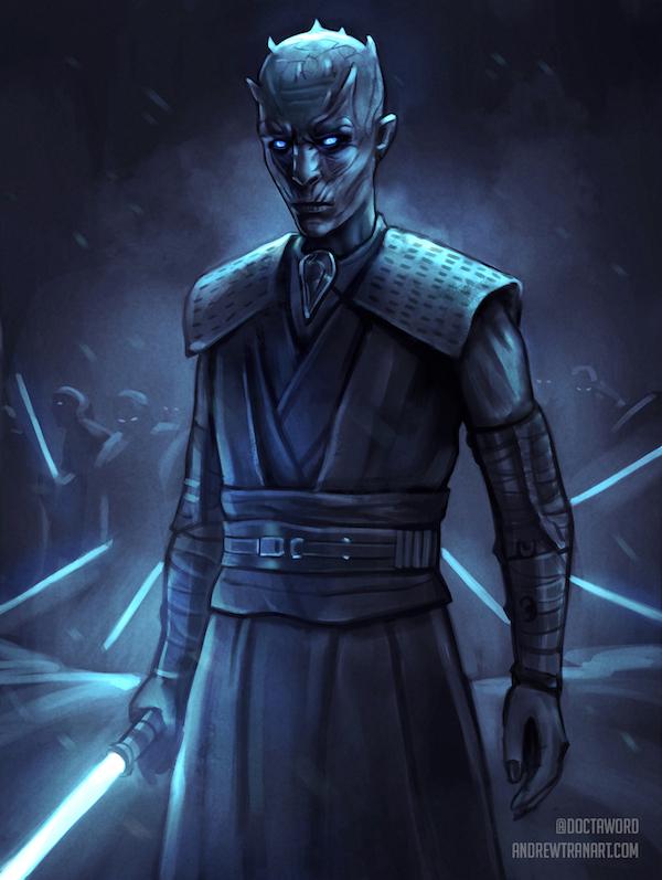 game of thrones star wars white walker jedi