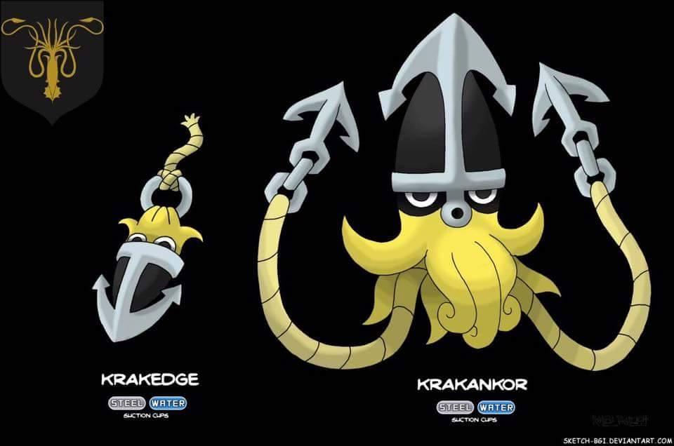 house greyjoy giant squid pokemon game of thrones