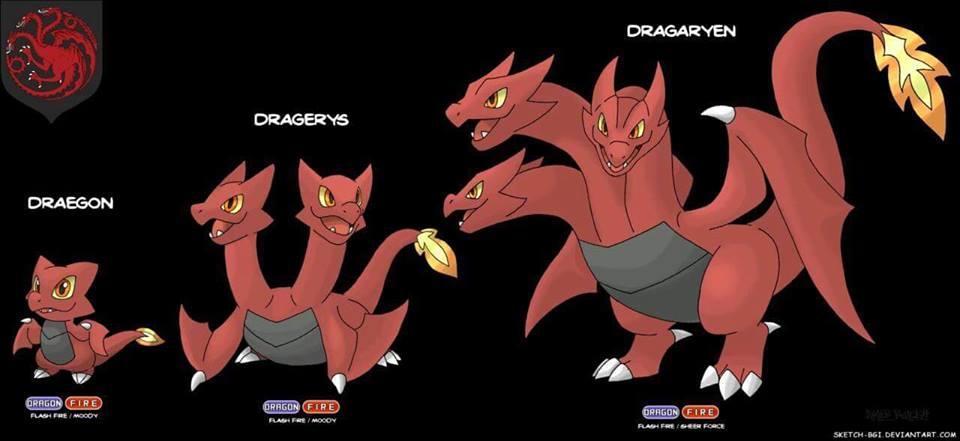 targaryen house dragon pokemon game of thrones
