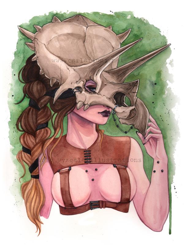 carla wyzgala skull masquerade