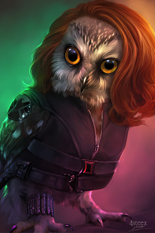 owl avengers black widow