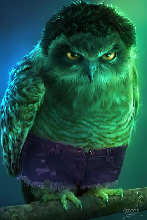 owl avengers hulk