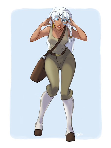 princesas disney costume swap Kida Mila, Atlantis