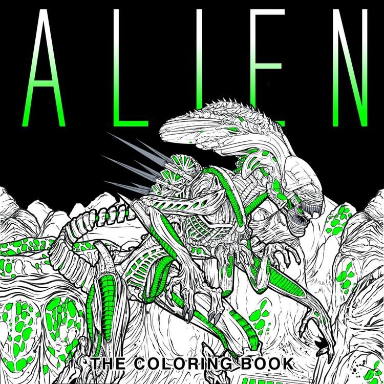 alien coloring book