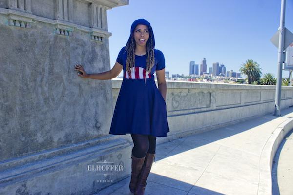 captain america inspired dress