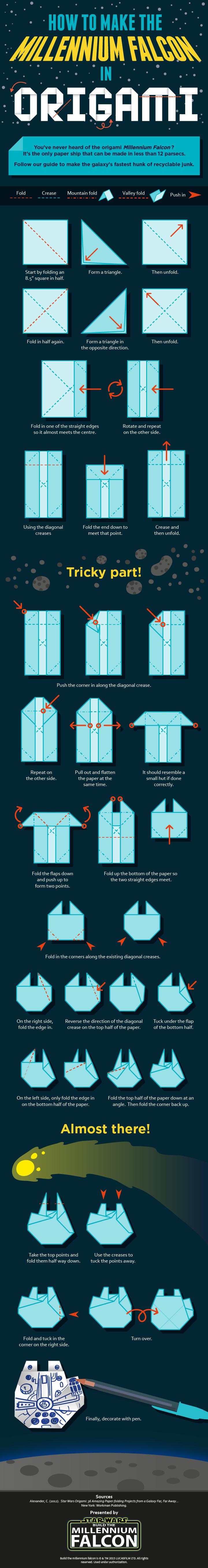 millennium falcon origami