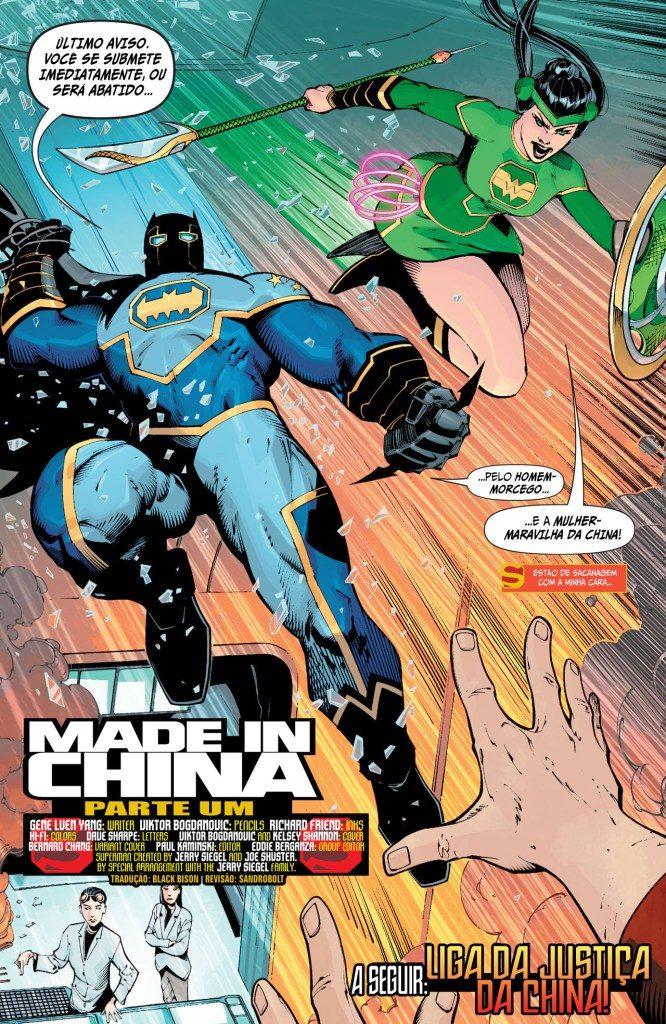 novo superman 1 batman chinês e mulher maravilha da china