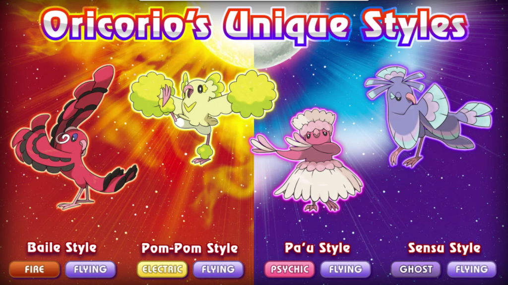 oricorio versions