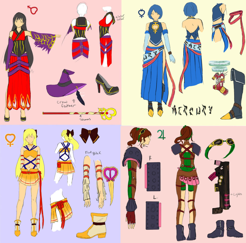 sailor moon final fantasy redesigns