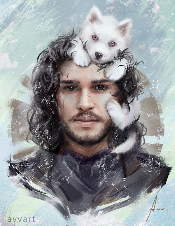 jon-snow-por-aleksei-vinogradov
