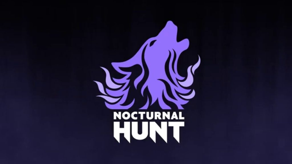 nocturnal hunt wolf logo