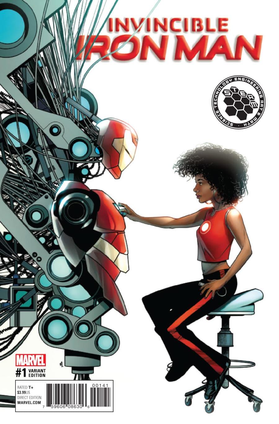 Invincible Iron Man #1: A estreia da Ironhearth capa