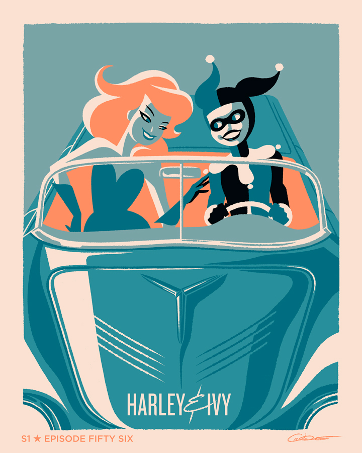 Batman Animated Series posters alternativos