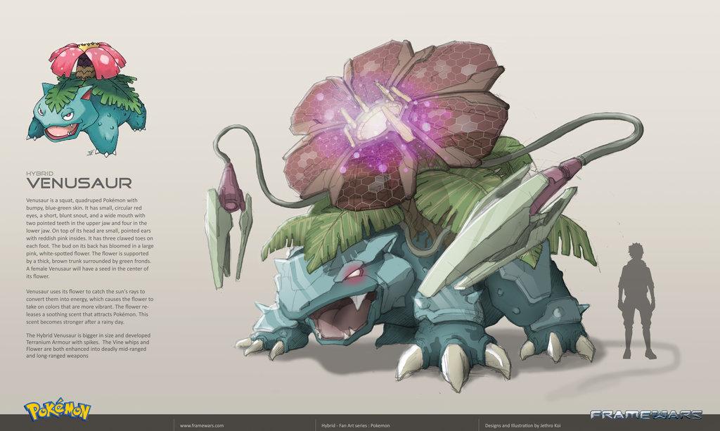 Pokémon com armaduras hi tech venusaur