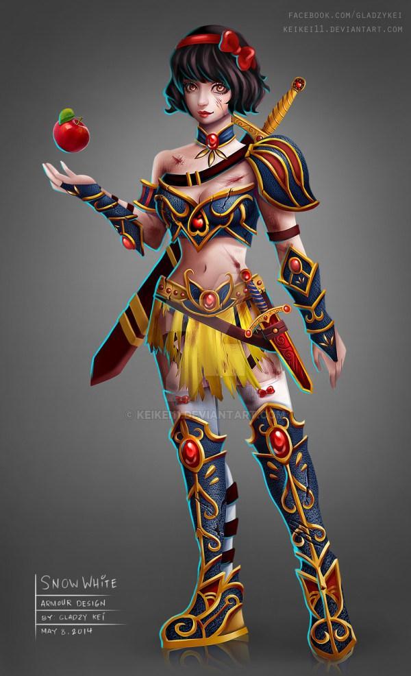 Princesas Disney guerreiras por keykey11