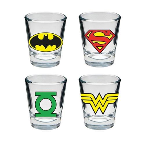 copos de shot super heróis