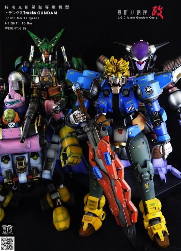 Gundams como personagens de Dragon Ball