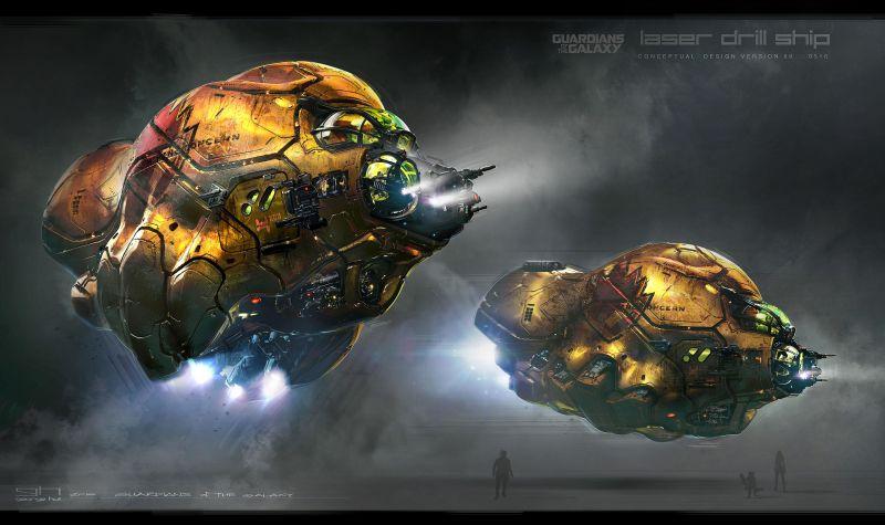 Guardiões da Galáxia vol 2 - artes conceituas das naves