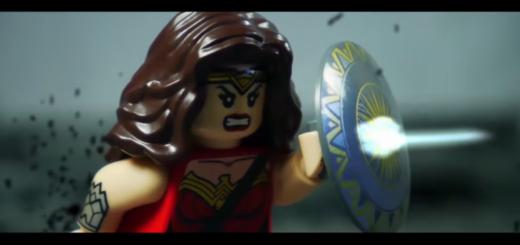 Mulher Maravilha trailer em lego