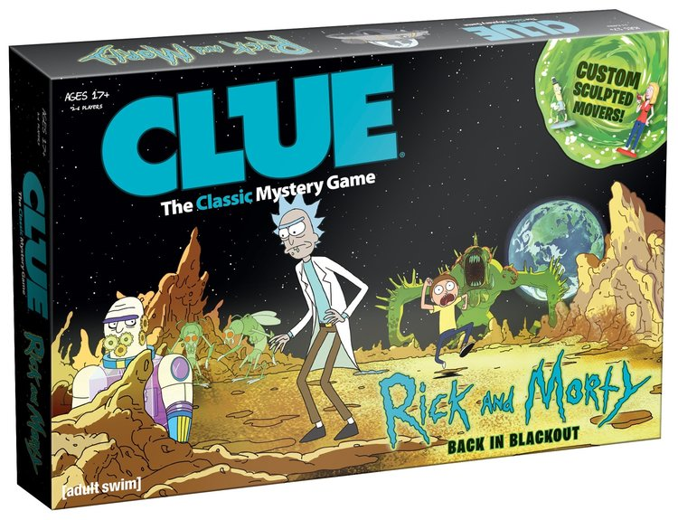 Rick and Morty Clue boardgame
